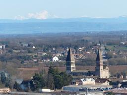 excursies in Zuid-Bourgogne zicht op Tournus